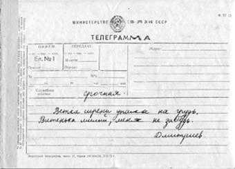 Якобы телеграмма